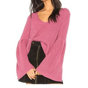 Free People Damsel Pullover Sweater w/bell sleeve